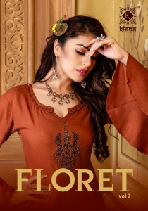 Kiana Floret Vol-2 Kurti With Palazzo ( 10 Pcs Catalog )