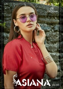 Poonam Asiana Vol-2 Low Range Kurtis ( 12 Pcs Catalog )