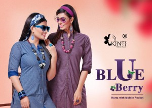 Kinti Blue Berry Low Range Ready made Kurti With Mobile Pocket ( 12 pcs catalog )