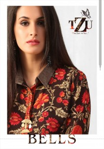 Tzu Bells Georgette Based Catchy Look Party Wear Kurtis ( 5 pcs catalog )