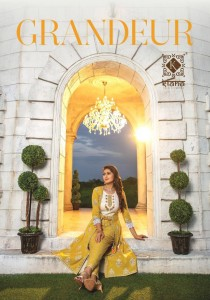 kiana grandeur silk based party wear kurti with bottom in wholesale price ( 6 pcs catalog )
